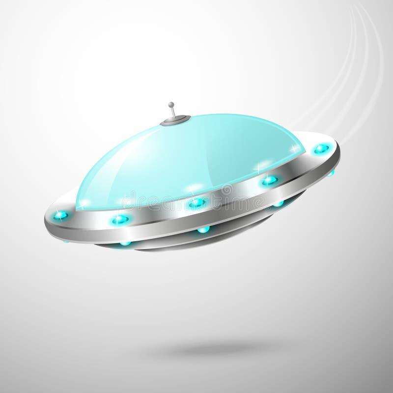 Эмблема ufo летания иллюстрация вектора