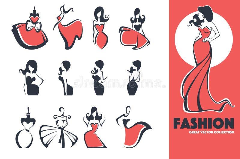 Эмблемы моды иллюстрация вектора