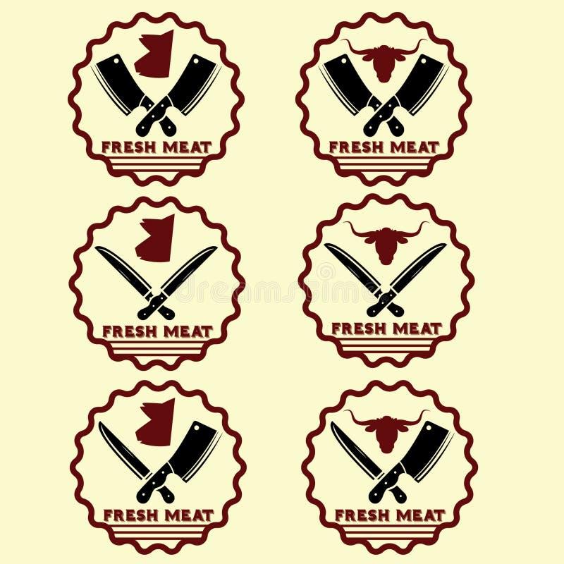 эмблемы свежего мяса иллюстрация вектора