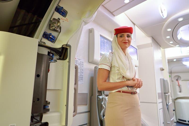 Эмираты A380 стоковое фото rf
