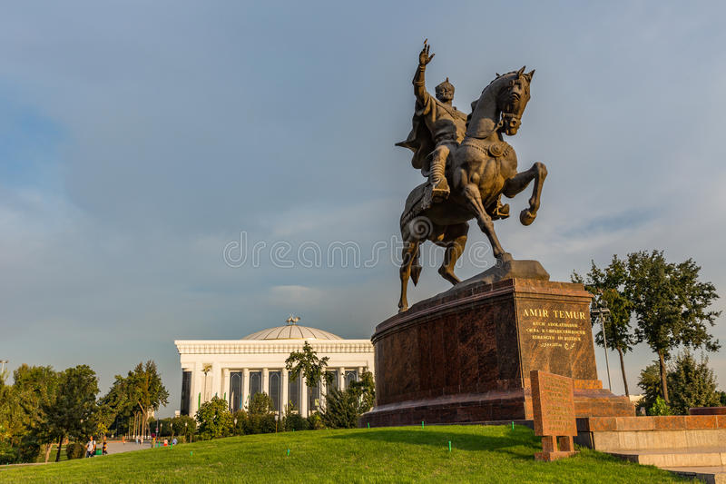 Эмир Timur Maydoni, в Ташкенте, Узбекистан стоковые фотографии rf