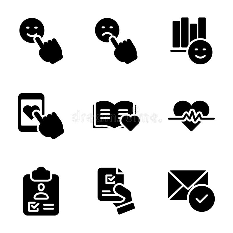 Эмоциональные векторы мнения и контрольного списока пакуют бесплатная иллюстрация