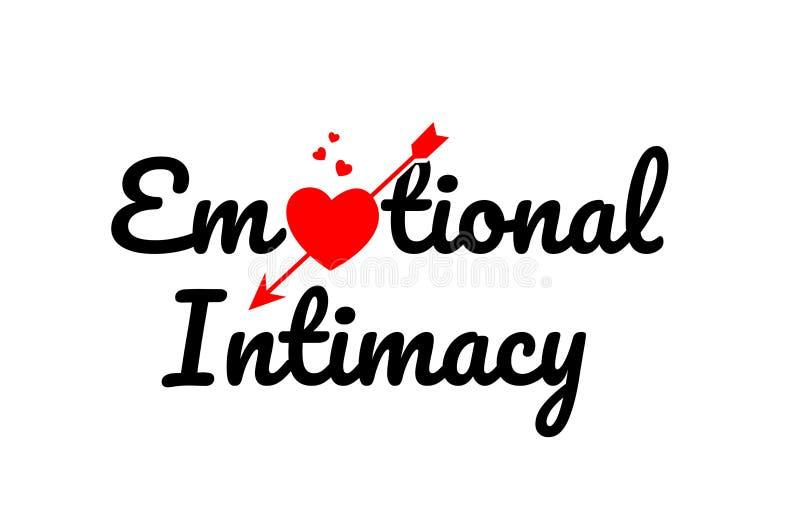 эмоциональный значок логотипа дизайна оформления текста слова интимности иллюстрация штока
