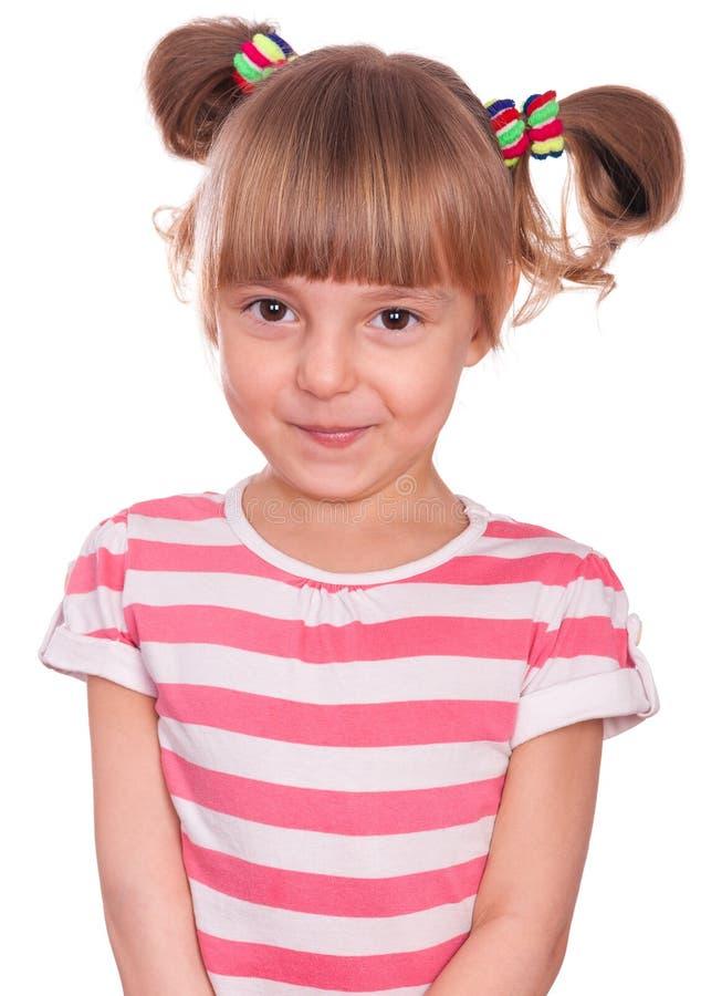 Эмоциональная маленькая девочка портрета стоковая фотография rf