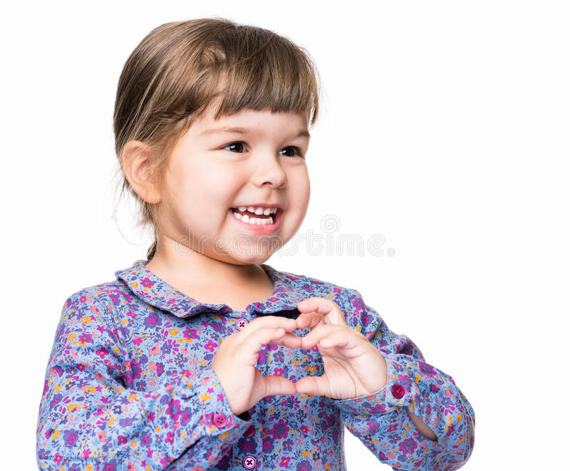 Эмоциональный портрет маленькой девочки стоковые изображения