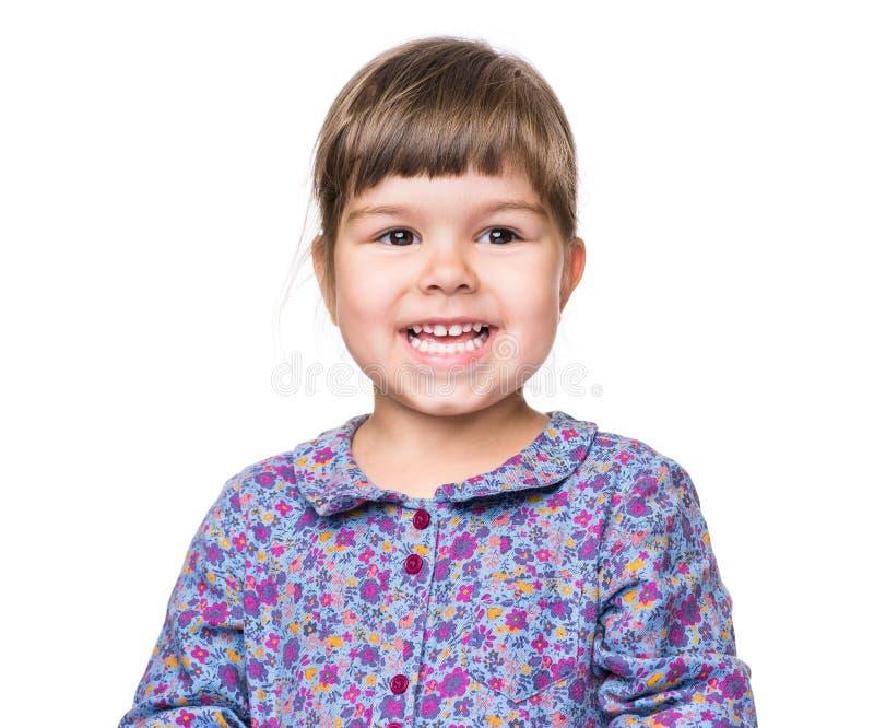 Эмоциональный портрет маленькой девочки стоковое изображение rf