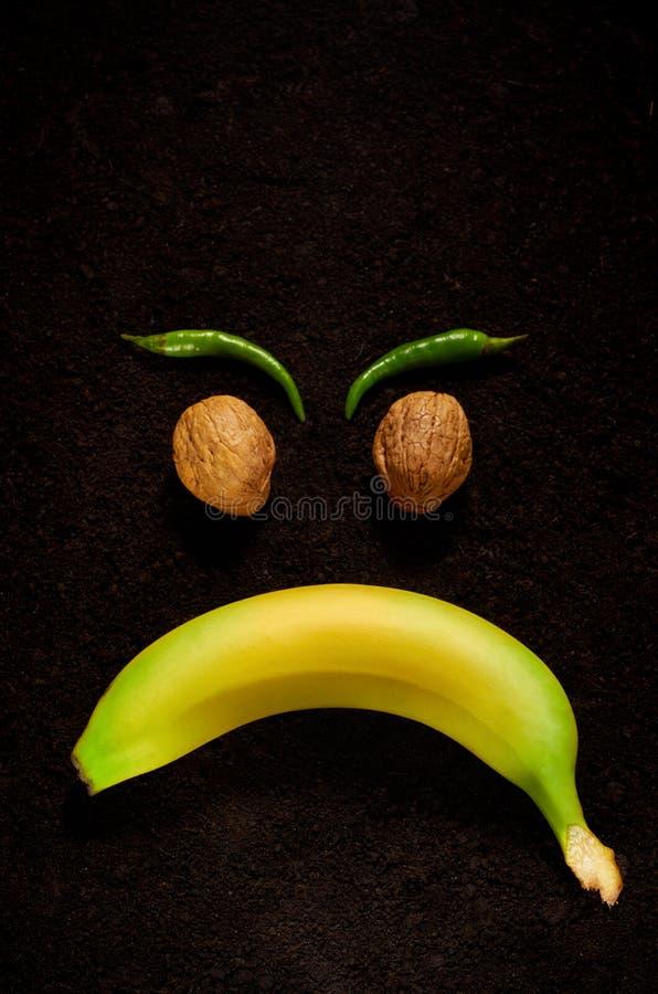Эмоция гнева через пользу органических продуктов стоковое фото rf