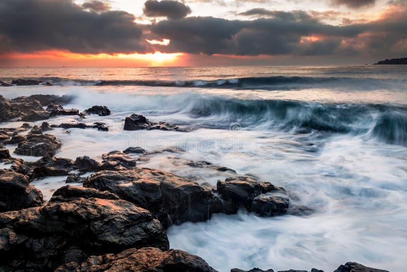 Эмоция моря стоковое фото rf