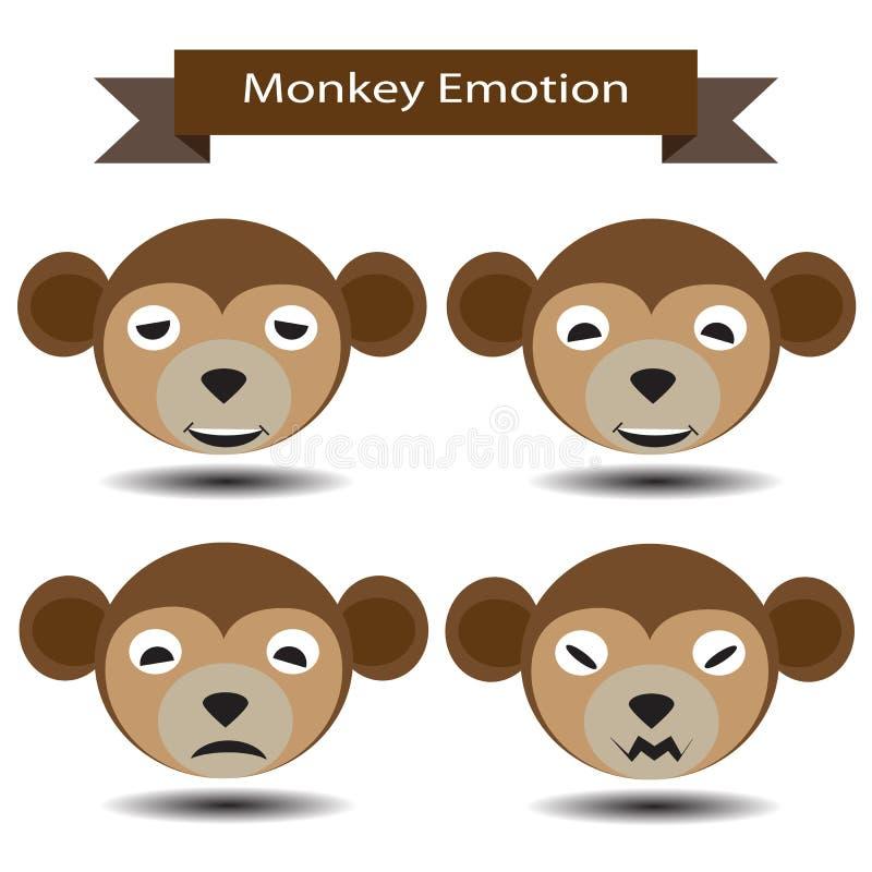 Эмоция 4 стороны обезьяны бесплатная иллюстрация