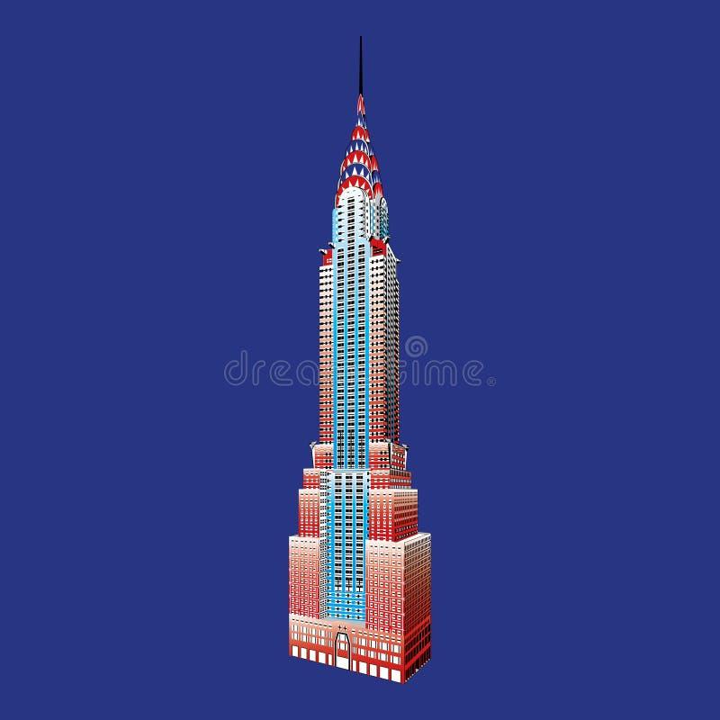 Эмпайр Стейт Билдинг Нью-Йорка известный иллюстрация вектора