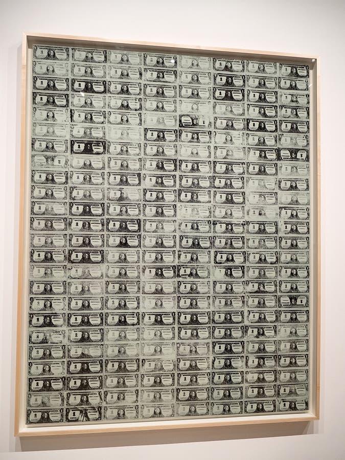 Энди Уорхол--От a к b и назад снова на музее Whitney стоковые фотографии rf