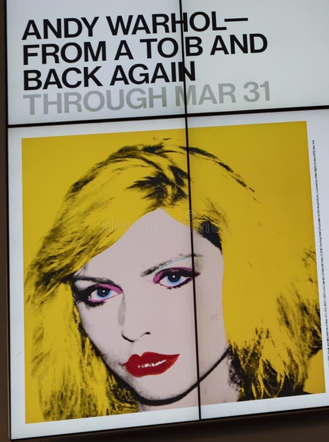 Энди Уорхол--От a к b и назад снова на музее Whitney стоковая фотография rf
