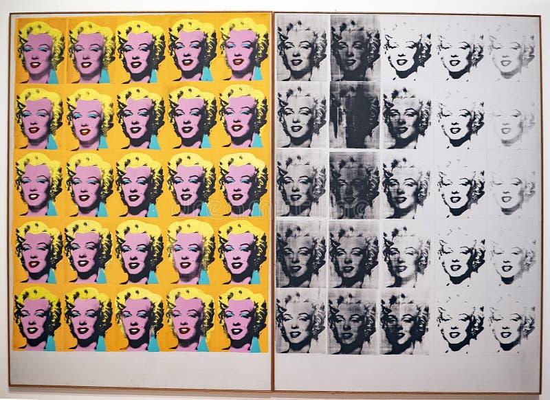 Энди Уорхол--От a к b и назад снова на музее Whitney стоковое изображение
