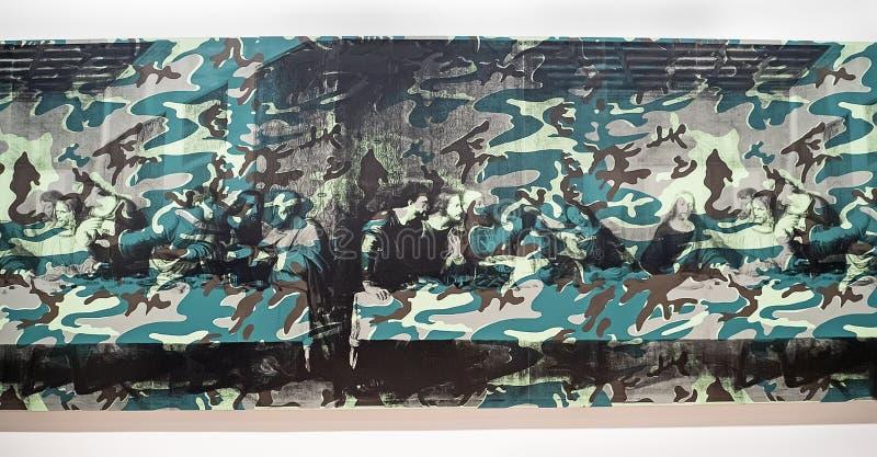 Энди Уорхол--От a к b и назад снова на музее Whitney стоковые фото