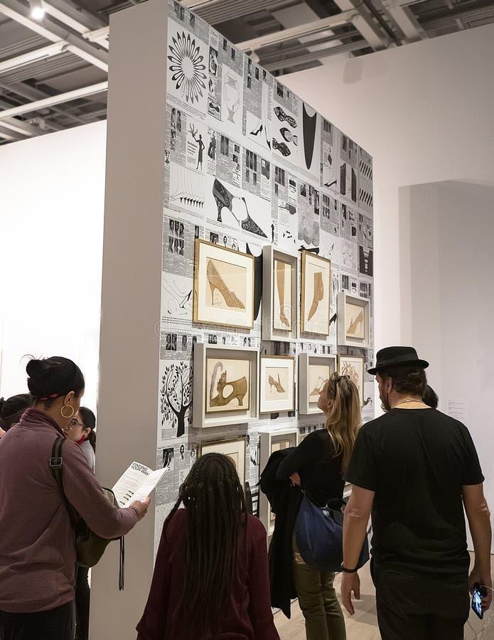 Энди Уорхол--От a к b и назад снова на музее Whitney стоковое фото rf