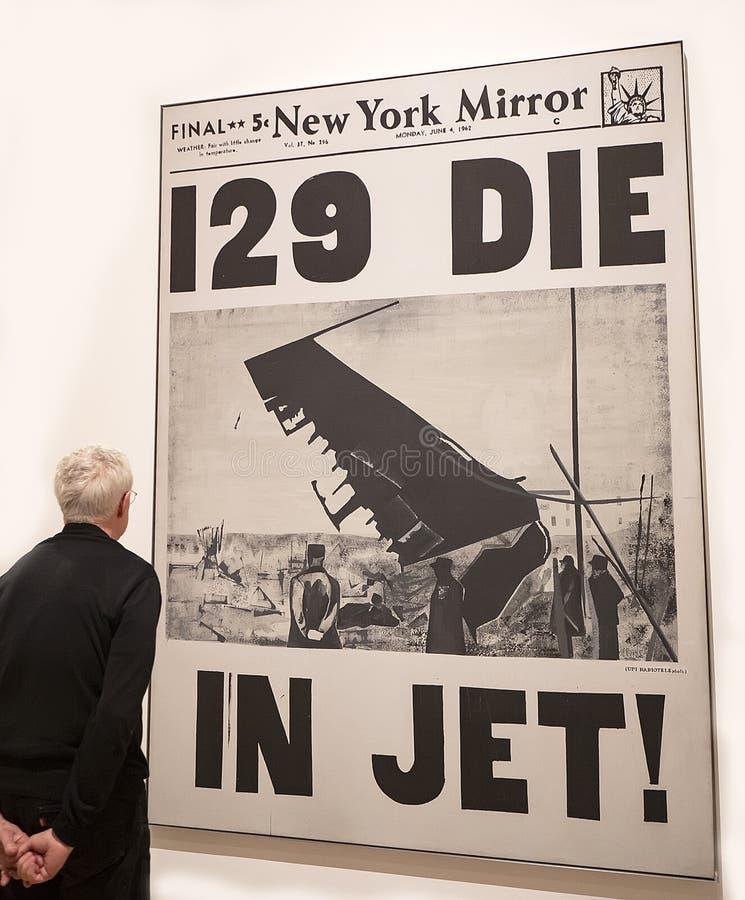 Энди Уорхол--От a к b и назад снова на музее Whitney стоковые изображения rf