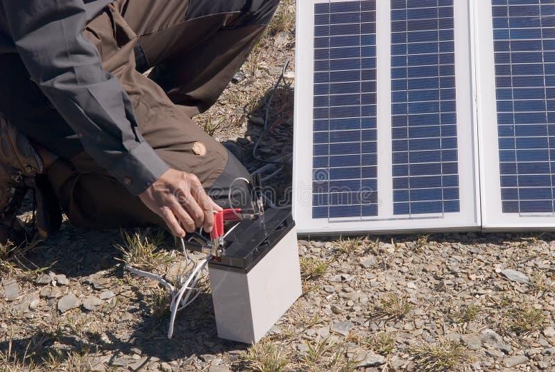 энергии солнечное outdoors малое стоковые изображения