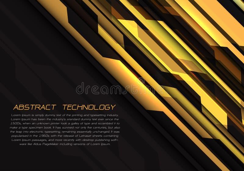 Энергия абстрактной желтой цепи геометрическая светлая на векторе предпосылки технологии черного дизайна современном футуристичес бесплатная иллюстрация