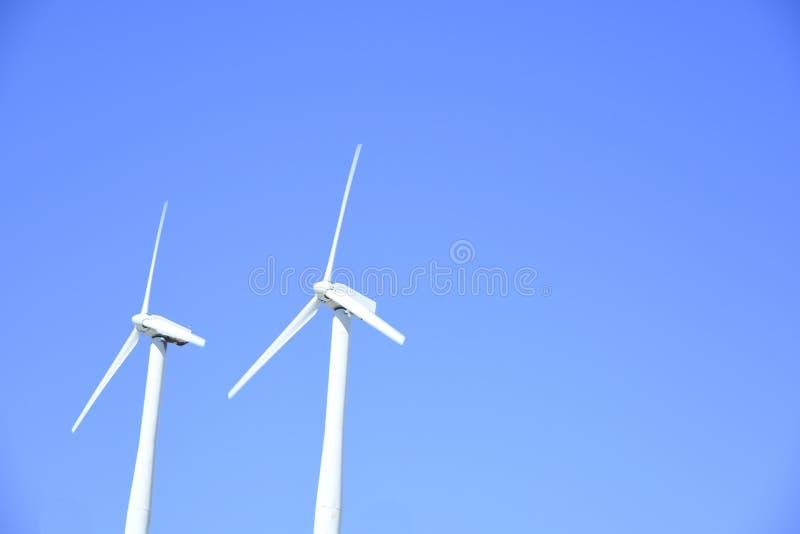 Энергия ветра в пустынях Palm Springs Калифорнии стоковое фото rf