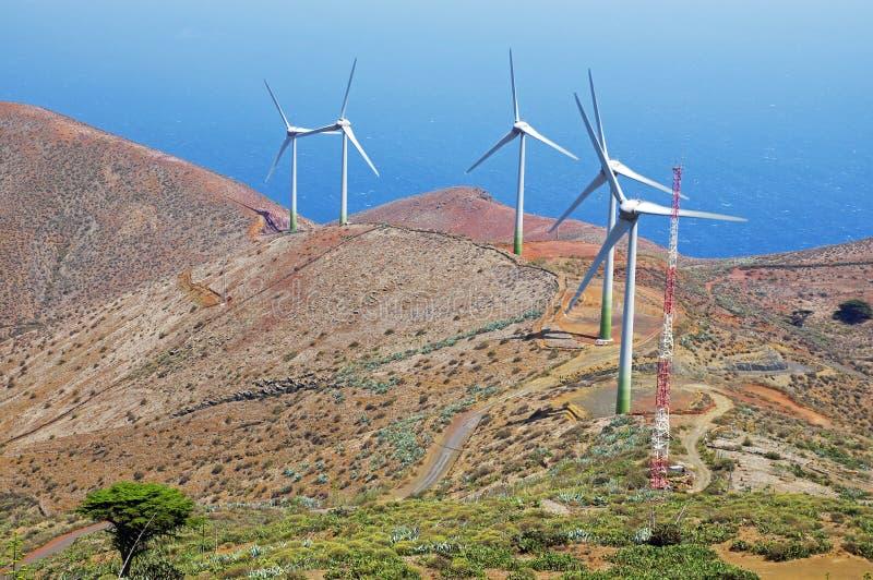 Энергия ветра энергии, El Hierro, Испания стоковая фотография