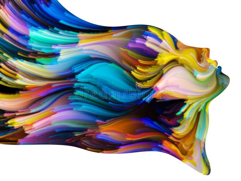 Энергия краски иллюстрация штока