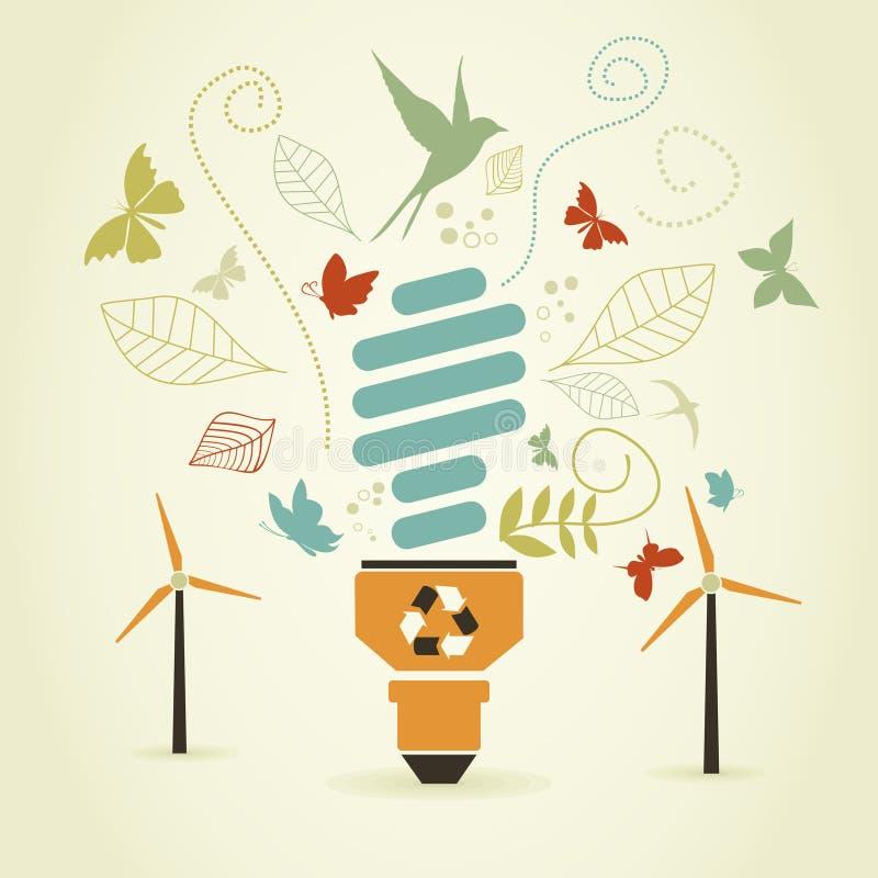 Энергосберегающий шарик бесплатная иллюстрация