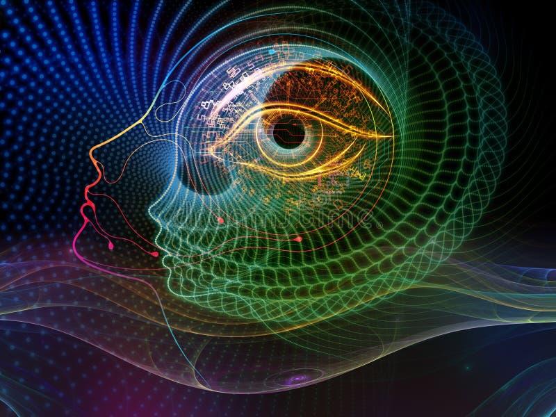 Энергия сознавания машины иллюстрация вектора