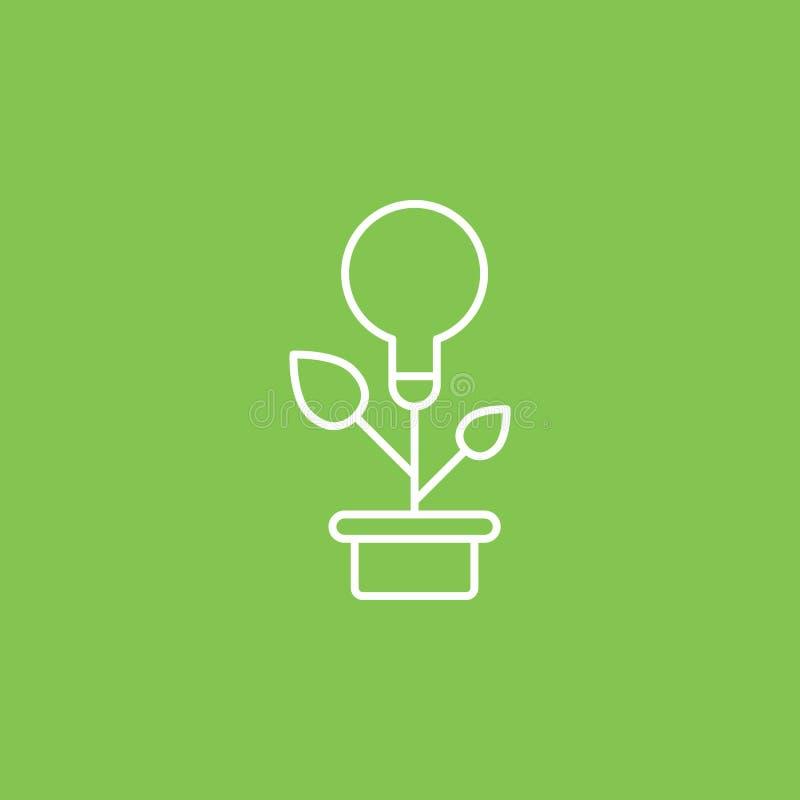 Энергия Eco, лампа, значок заводов - вектор r Энергия Eco, лампа, значок заводов - вектор иллюстрация штока