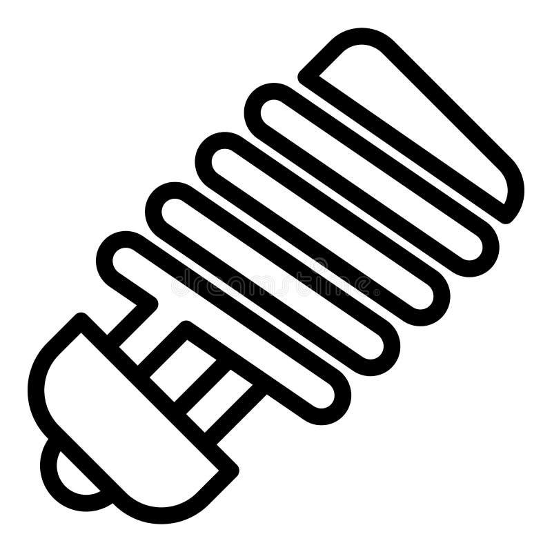 Энергосберегающий значок лампы, стиль плана иллюстрация штока