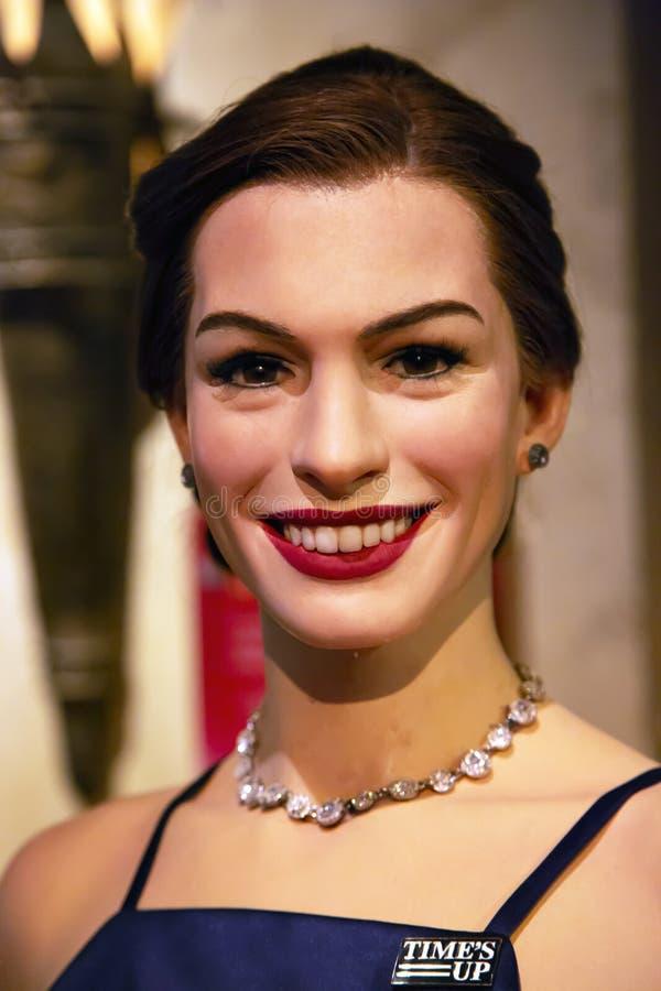 Энн Hathaway в Мадам Tussauds Нью-Йорка стоковые фото