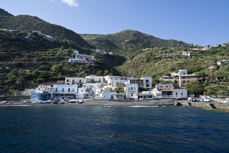 Эоловы острова Италии Сицилии, остров Alicudi стоковые фото