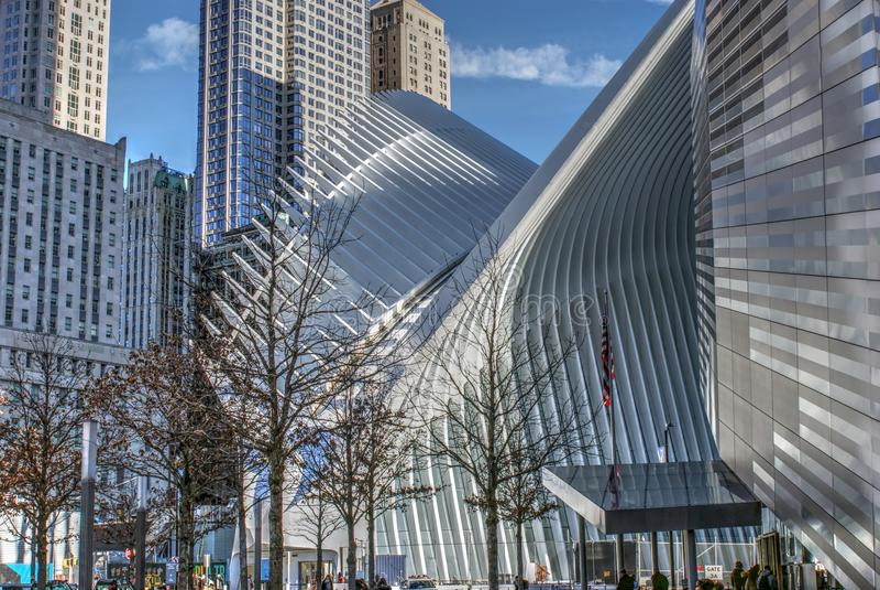 Эпицентр деятельности WTC и 9/11 мемориальные музеев стоковое фото