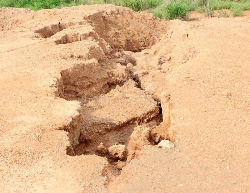 Эрозия почвы стоковые изображения