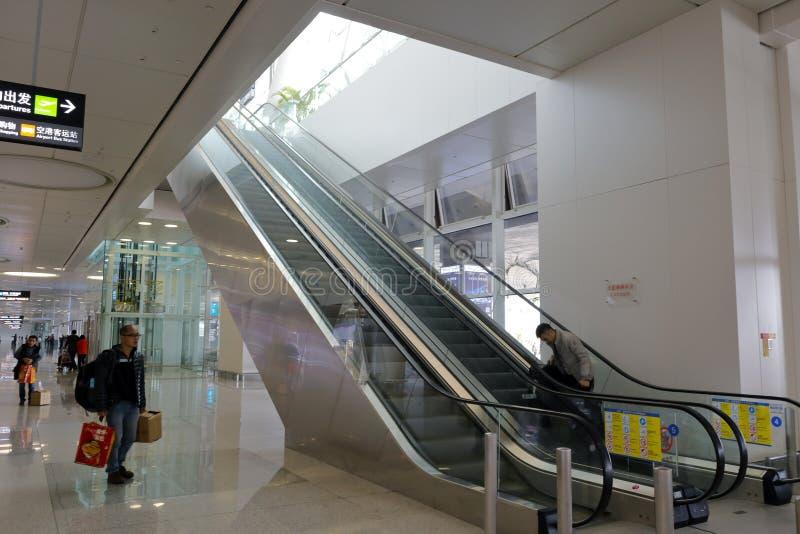 Эскалатор нового стержня t4, amoy город, фарфор стоковая фотография rf