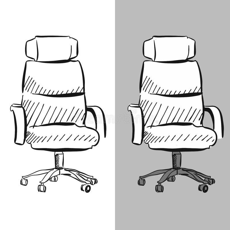Эскиз вектора стула стула офиса иллюстрация вектора