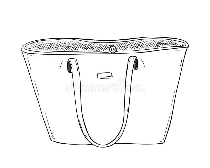 Эскиз вектора сумки ledies иллюстрация штока