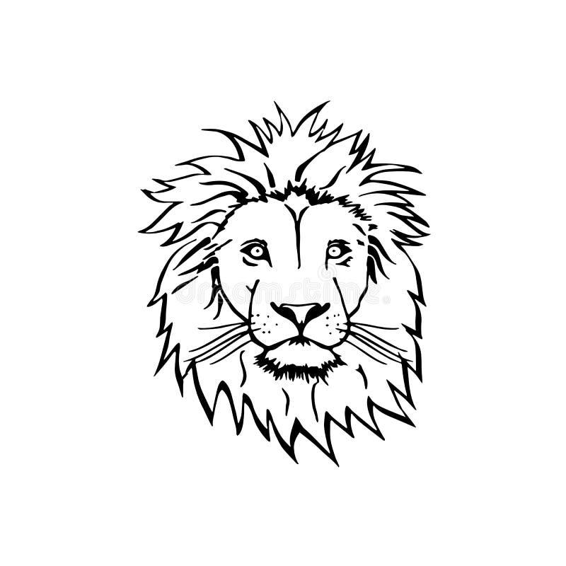 Эскиз вектора льва головной стоковая фотография rf