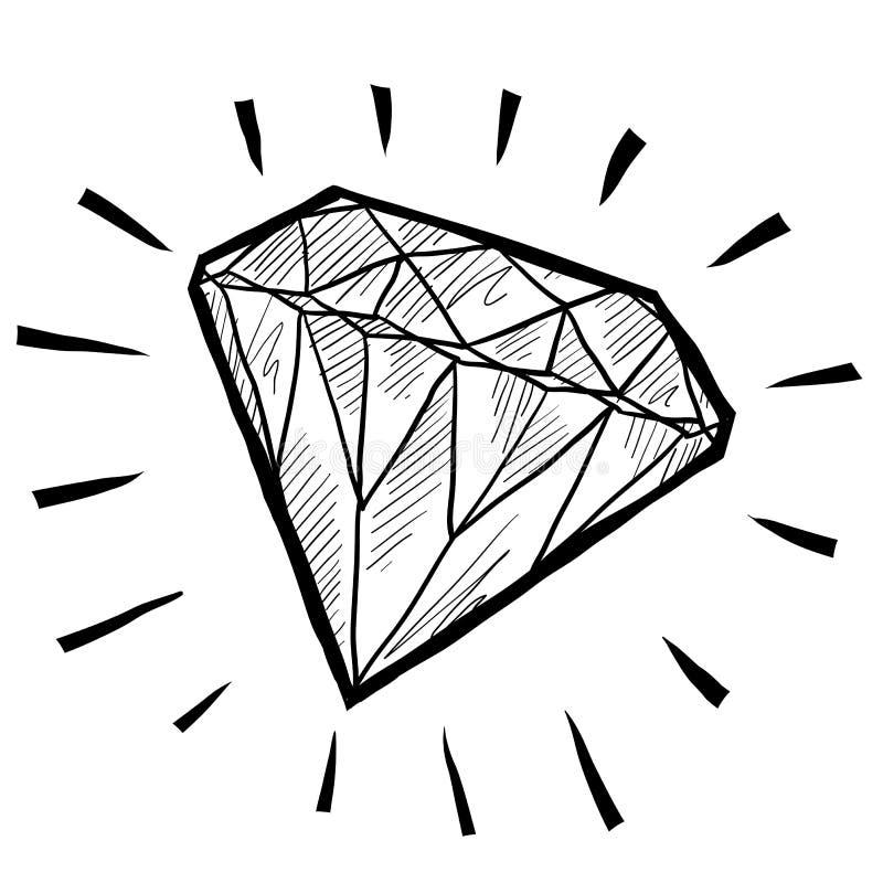 эскиз диаманта иллюстрация штока