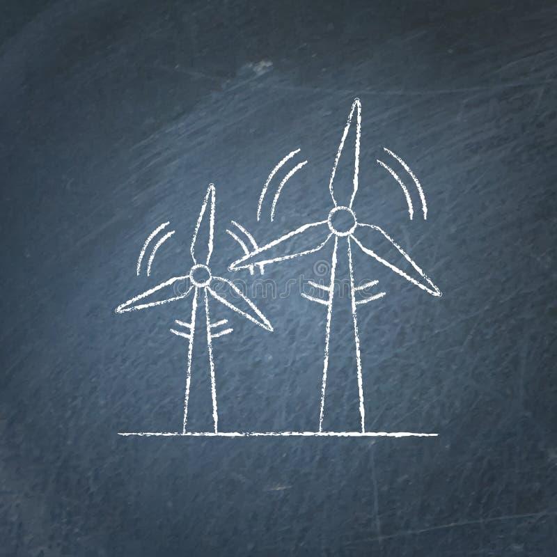 Эскиз доски ветротурбины бесплатная иллюстрация