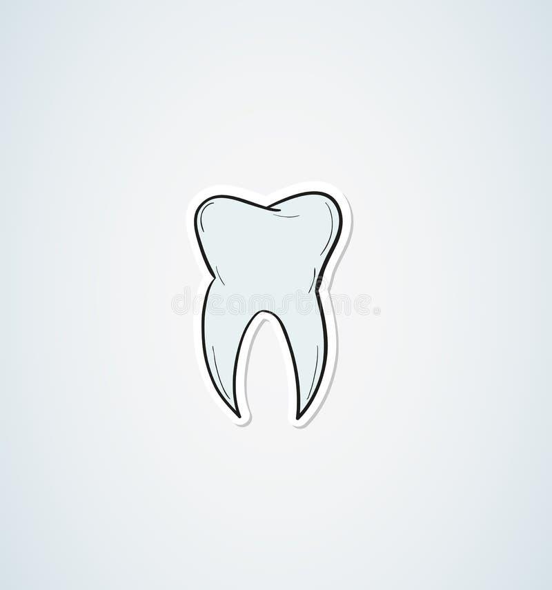 Download Эскиз зуба иллюстрация штока. иллюстрации насчитывающей эмаль - 41659847