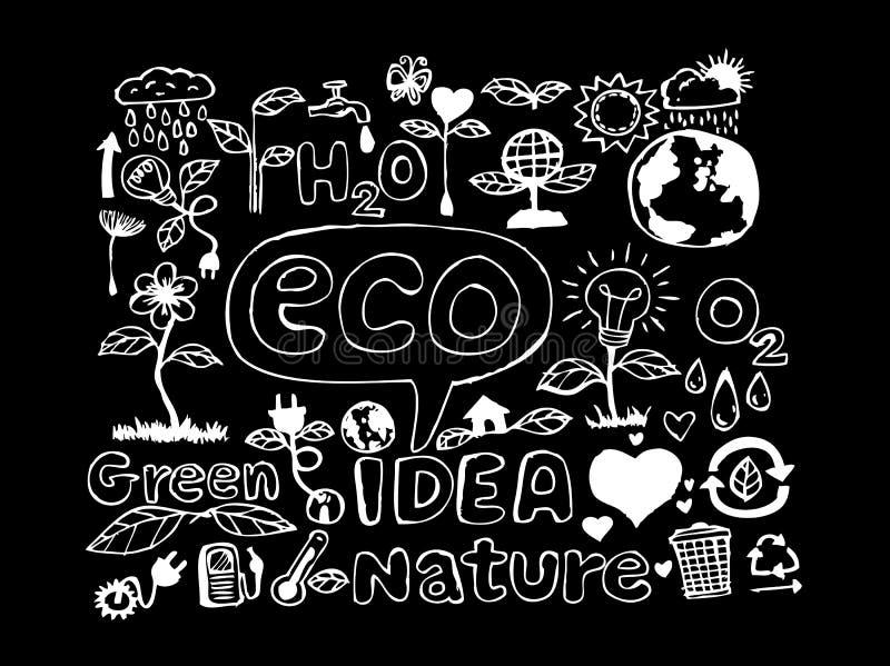 Эскиз идеи Eco и Doodles Eco дружелюбные бесплатная иллюстрация