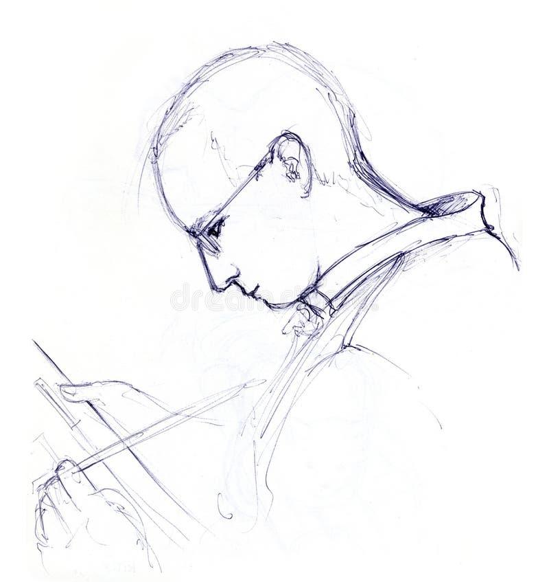эскиз картины человека иллюстрация вектора