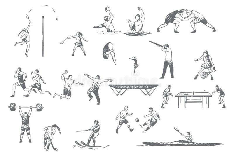 Эскиз концепции деятельностям при лета sportive бесплатная иллюстрация