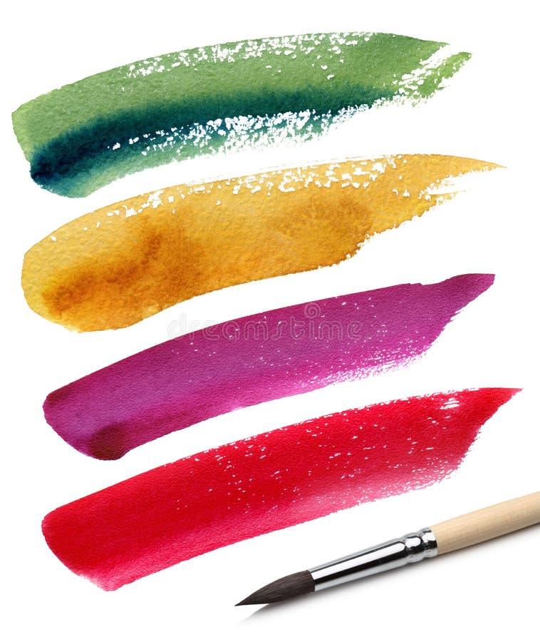 эскиз краски цвета щетки стоковые фотографии rf