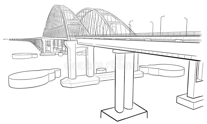 Крымский мост картинки для срисовки