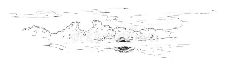 Эскиз неба иллюстрация вектора