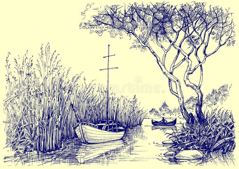 Эскиз природы бесплатная иллюстрация