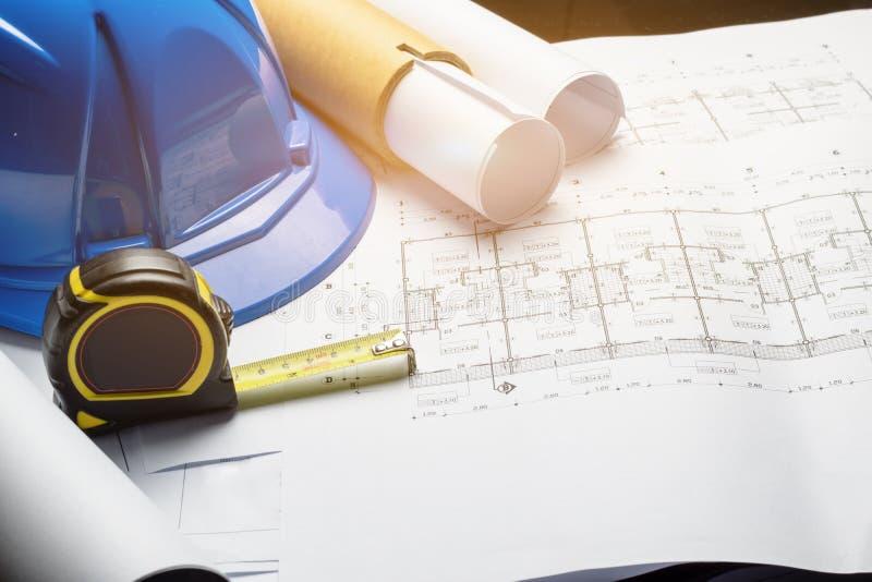 Эскиз проекта светокопировальной бумаги диаграммы инженерства чертя стоковые изображения rf