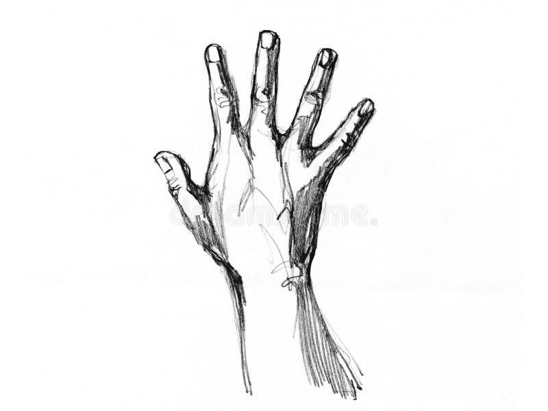 эскиз рук стоковое изображение rf