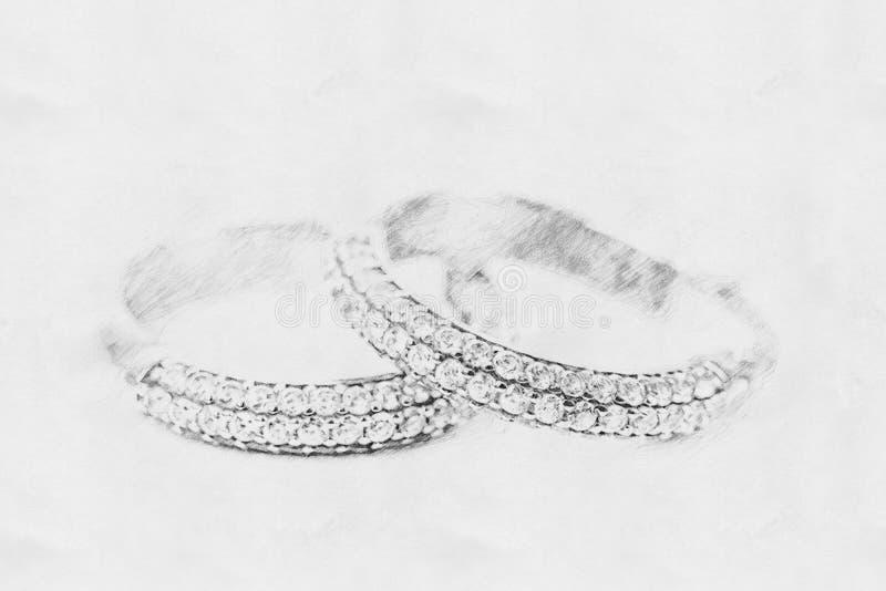Эскиз серег диаманта стоковое фото